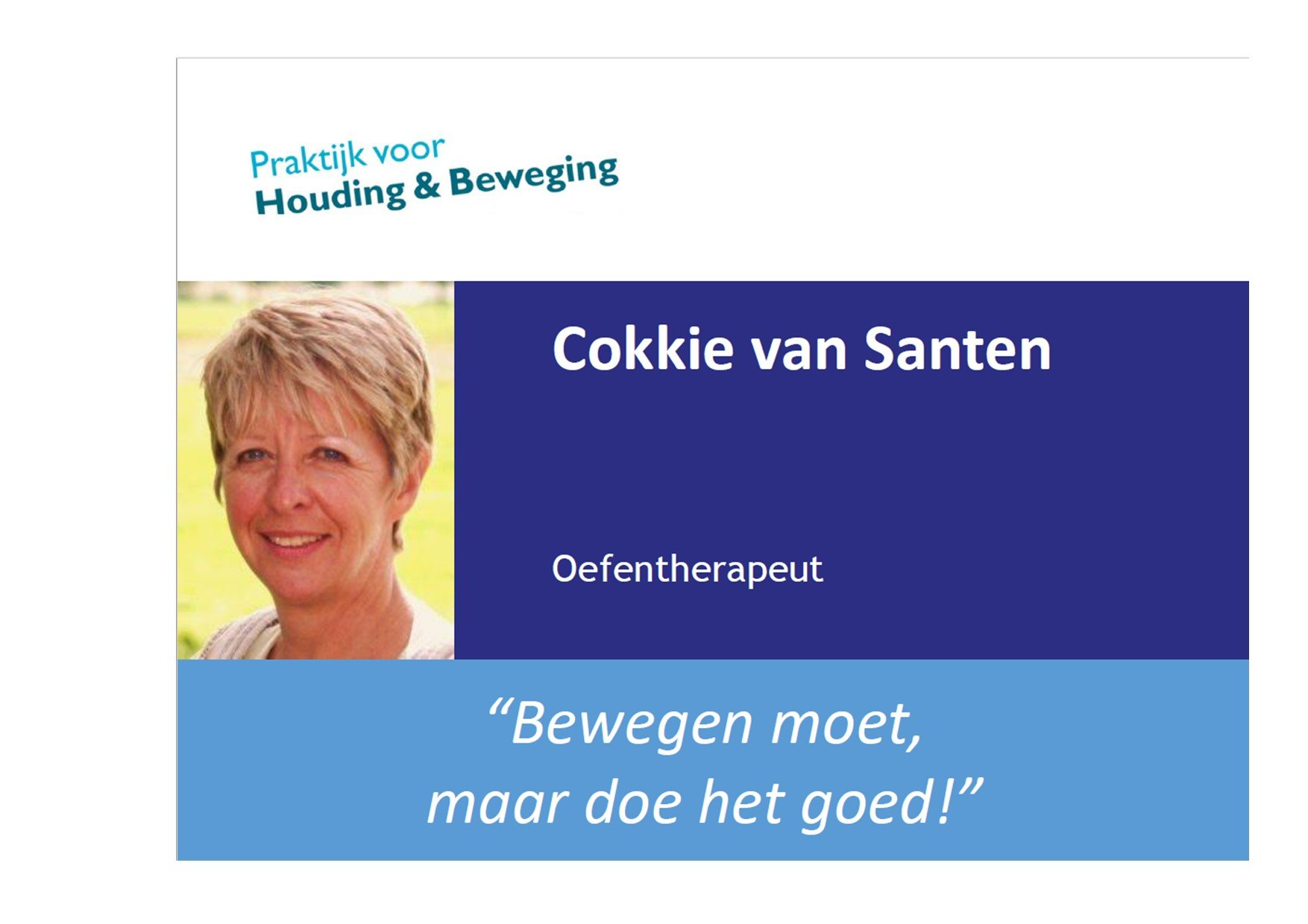 Screenshot Cokkie Van Santen